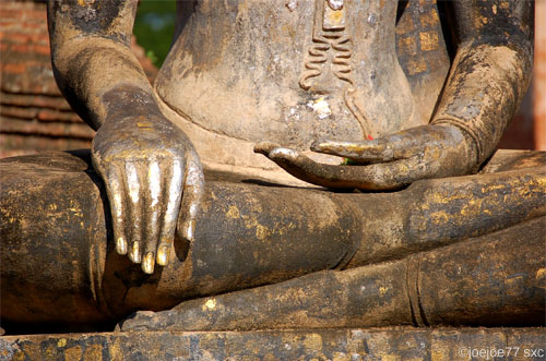 méditation bouddha mains