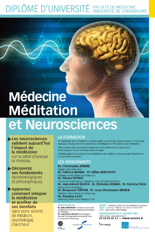 DU medecine meditation neurosciences